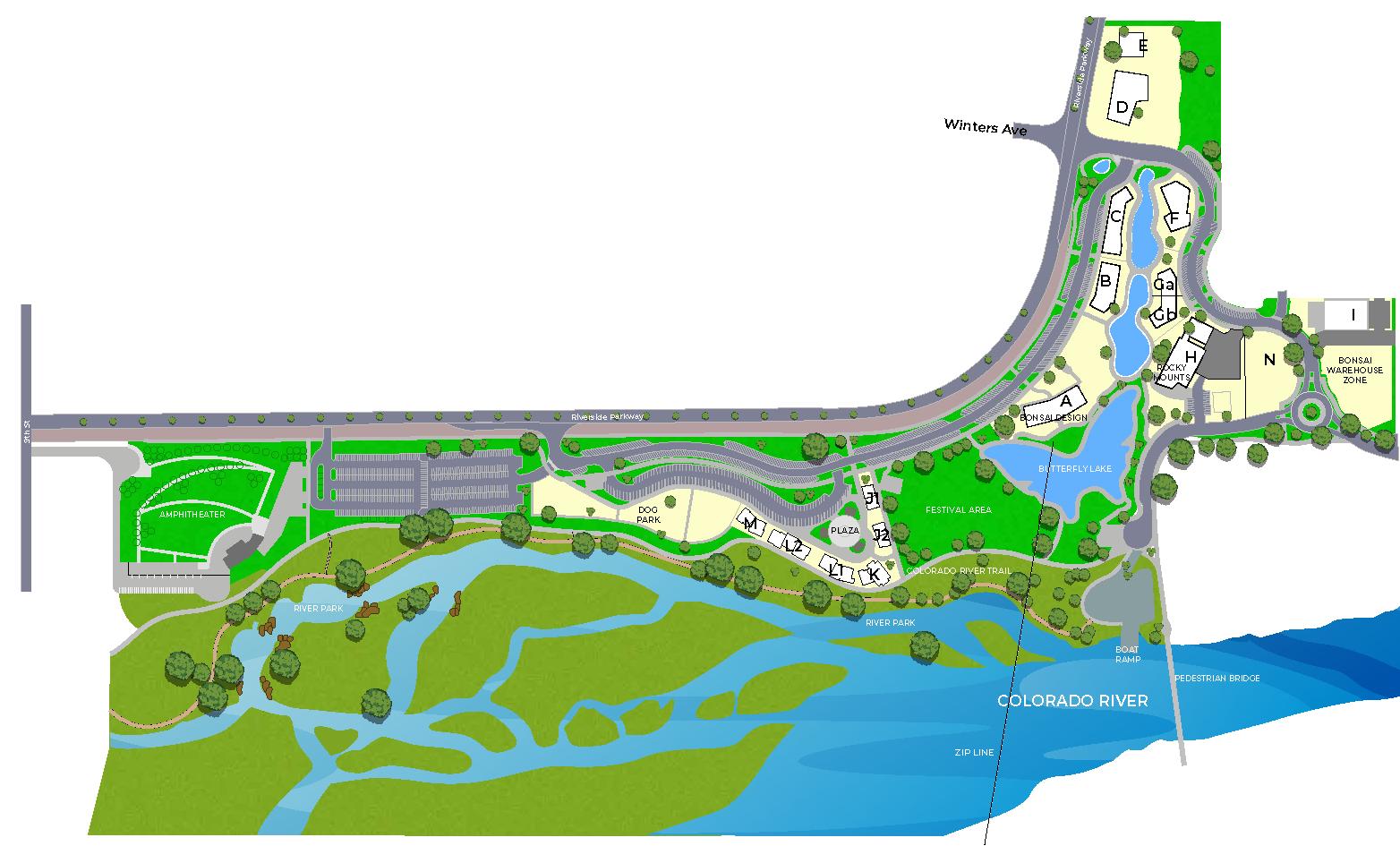 Riverfront at Las Colonias Park Grand Junction CO Master Plan